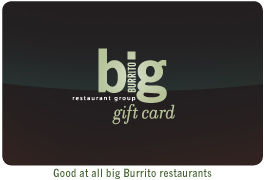 big Burrito Gift Card